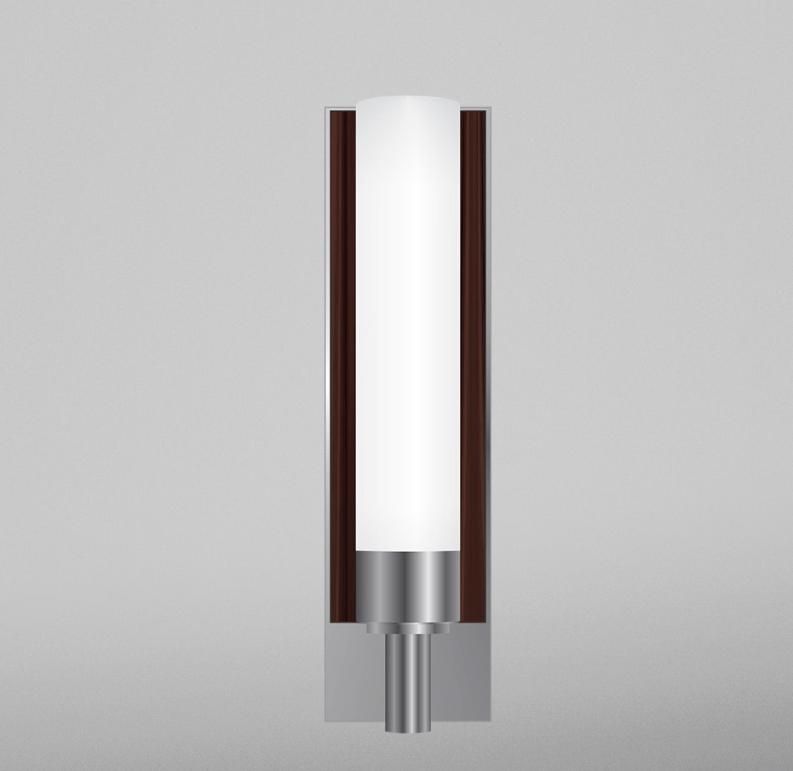 Robern Bathroom Sconces robern dlfdgcr decorative 3-1/8 inch glass light sconce chrome