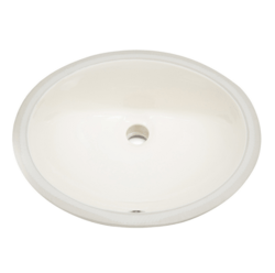 AMERICAN IMAGINATIONS AI-128 19.75 X 15.75 INCH OVAL UNDERMOUNT SINK IN BISCUIT COLOR