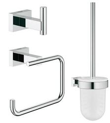 GROHE 40757001 ESSENTIALS CUBE CITY RESTROOM ACCESSORIES SET 3-IN-1