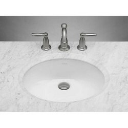 RONBOW 200513-WH OVAL CERAMIC UNDERMOUNT BATHROOM SINK IN WHITE