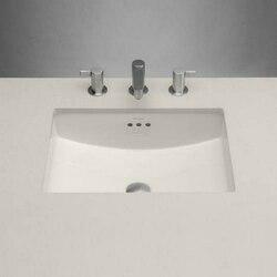 RONBOW 200520-BI RECTANGLE CERAMIC UNDERMOUNT BATHROOM SINK IN BISCUIT