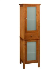 RONBOW 670019-2-F08 CONTEMPORARY LINEN CABINET STORAGE TOWER IN CINNAMON