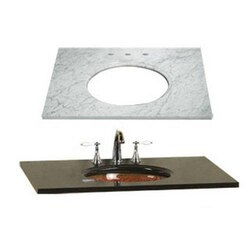 RONBOW 301143-8-CW 43 X 22 INCH MARBLE VANITY TOP IN CARRARA WHITE WITH 8 INCH WIDESPREAD FAUCET HOLE