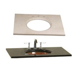 RONBOW 301143-8-MY 43 X 22 INCH MARBLE VANITY TOP IN CREAM BEIGE WITH 8 INCH WIDESPREAD FAUCET HOLE