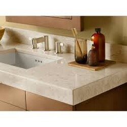 RONBOW 306648-1-MY WIDEAPPEAL 48 X 19 INCH MARBLE VANITY TOP IN CREAM BEIGE - 2 3/4 INCH THICK