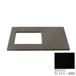 RONBOW 362237-8L-Q02 TECHSTONE 37 X 22 INCH VANITY TOP IN BROAD BLACK - 3/4 INCH THICK