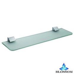 BLOSSOM BA02 207 01 WALL MOUNTED GLASS SHELF IN CHROME