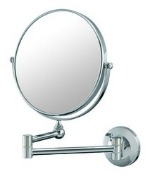 APTATIONS 20740 DOUBLE ARM WALL MIRROR IN CHROME