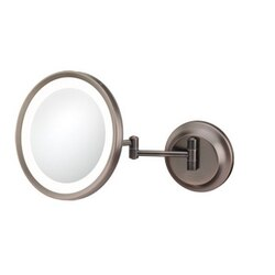 APTATIONS 944-35-15HW SINGLE-SIDED LED ROUND MAGNIFIED MAKEUP WALL MIRROR IN ITALIAN BRONZE