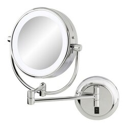APTATIONS 945-55-45HW NEOMODERN LED LIGHTED HARDWIRED WALL MIRROR IN CHROME