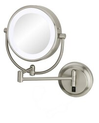 APTATIONS 945-55-75HW NEOMODERN LED LIGHTED HARDWIRED WALL MIRROR IN BRUSHED NICKEL