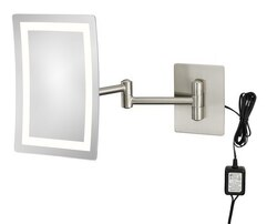 APTATIONS 949-35-73HW SINGLE-SIDED LED RECTANGULAR HARDWIRED WALL MIRROR IN BRUSHED NICKEL
