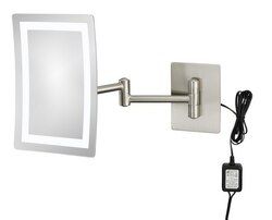APTATIONS 949-55-73HW SINGLE-SIDED LED RECTANGULAR HARDWIRED WALL MIRROR IN BRUSHED NICKEL