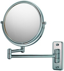 APTATIONS 21145 DOUBLE ARM WALL MIRROR IN CHROME