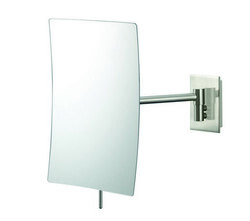 APTATIONS 21873 MINIMALIST RECTANGULAR WALL MIRROR IN BRUSHED NICKEL