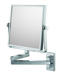 APTATIONS 24043 SQUARE DOUBLE ARM WALL MIRROR IN CHROME