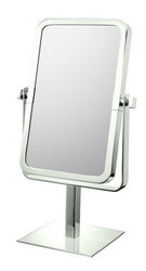 APTATIONS 80673 RECTANGULAR FREE STANDING MIRROR IN BRUSHED NICKEL