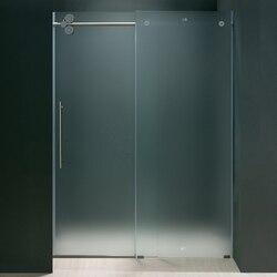 VIGO VG6041MT6074L 60 INCH FRAMELESS SHOWER DOOR FROSTED GLASS, LEFT-SIDED DOOR