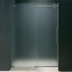 VIGO VG6041MT6074R 60 INCH FRAMELESS SHOWER DOOR FROSTED GLASS, RIGHT-SIDED DOOR