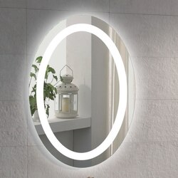 NAMEEKS ARROV GLIMMER 28 X 20 INCH ILLUMINATED OVAL VANITY MIRROR