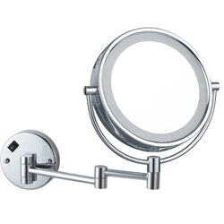 NAMEEKS AR7705-CR-5X GLIMMER DOUBLE FACE ROUND LED 5X MAKEUP MIRROR