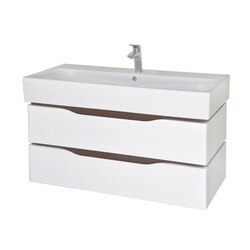 NAMEEKS VN-W03 VENICE 39 INCH WHITE VANITY CABINET WITH FITTED SINK