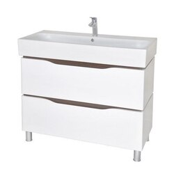 NAMEEKS VN-F03 VENICE 39 INCH WHITE VANITY CABINET WITH FITTED SINK