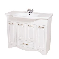 NAMEEKS CLA-F03 CLASSIC 39 INCH WHITE VANITY CABINET WITH FITTED SINK