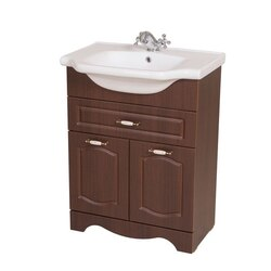 NAMEEKS CLA-F04 CLASSIC 23 INCH WALNUT VANITY CABINET WITH FITTED SINK