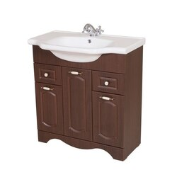 NAMEEKS CLA-F05 CLASSIC 31 INCH WALNUT VANITY CABINET WITH FITTED SINK