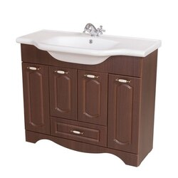 NAMEEKS CLA-F06 CLASSIC 39 INCH WALNUT VANITY CABINET WITH FITTED SINK