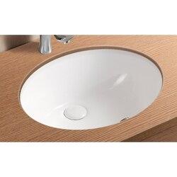 CARACALLA CA908-18-NO HOLE CERAMICA II 18 INCH OVAL WHITE CERAMIC UNDERMOUNT BATHROOM SINK