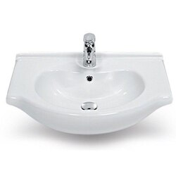 CERASTYLE 066200-U-ONE HOLE NIL 17 INCH RECTANGULAR WHITE CERAMIC WALL MOUNTED OR SELF-RIMMING SINK