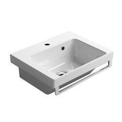 GSI 868411 LOSAGNA 17 INCH WHITE CERAMIC FITTED VANITY SINK