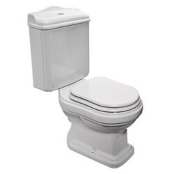 GSI 561611 OLD ANTEA CLASSIC-STYLE WHITE CERAMIC FLOOR TOILET WITH SEAT AND COVER