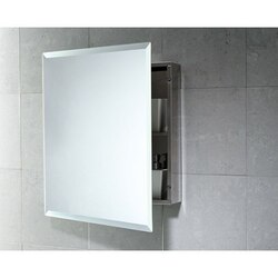 GEDY 2806-13 KORA 20 INCH CABINET OF STAINLESS STEEL WITH 1 SHELF AND MIRROR