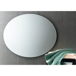 GEDY 2575-13 PLANET 30 X 22 INCH ROUND WALL MOUNTED VANITY MIRROR