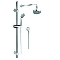 GEDY SUP1033 SUPERINOX SHOWER SOLUTION IN CHROME WITH HAND SHOWER AND SLIDING RAIL, SHOWERHEAD, AND WATER CONNECTION