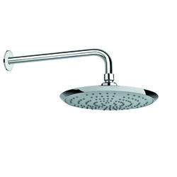GEDY SUP1130 SUPERINOX RAIN SHOWER HEAD IN CHROME FINISH AND 16 INCH STAINLESS STEEL SHOWER ARM
