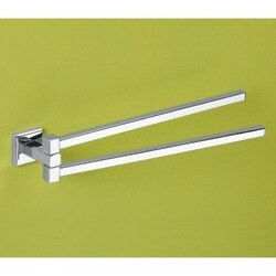 GEDY 6923-13 COLORADO 14 INCH POLISHED CHROME DOUBLE SWIVEL TOWEL BAR
