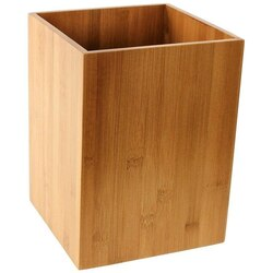 GEDY PO09-35 POTUS BAMBOO COLORED WASTE BASKET MADE IN WOOD