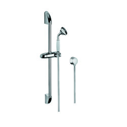 GEDY SUP1047 SUPERINOX CHROME SHOWER SYSTEM WITH HAND SHOWER, WATER CONNECTION, AND SLIDING RAIL