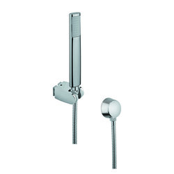 GEDY SUP1058 SUPERINOX CHROME HAND SHOWER WITH HOSE AND BRASS WATER CONNECTION