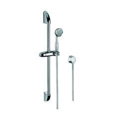 GEDY SUP1041 SUPERINOX CHROME SHOWER SOLUTION WITH HAND SHOWER, SLIDING RAIL AND WATER CONNECTION