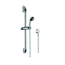 GEDY SUP1042 SUPERINOX POLISHED CHROME SHOWER SYSTEM WITH HAND SHOWER AND SLIDING RAIL AND WATER CONNECTION