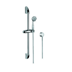 GEDY SUP1048 SUPERINOX CHROME SHOWER SOLUTION WITH HAND SHOWER, SLIDING RAIL, AND WATER CONNECTION