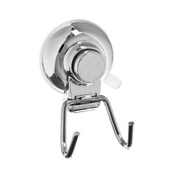 GEDY HO26-13 HOT SUCTION CUP DOUBLE TOWEL HOOK