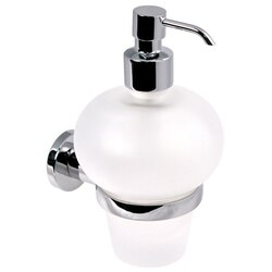 GEDY 5181-13 DEMETRA WALL MOUNTED FROSTED GLASS SOAP DISPENSER