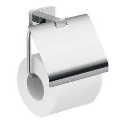 GEDY 4425-13 ATENA WALL MOUNTED CHROME TOILET PAPER HOLDER WITH COVER