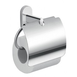 GEDY 5325-13 FEBO CHROME TOILET PAPER HOLDER WITH COVER